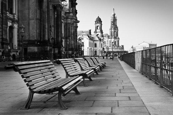 черно белые фото ретро город