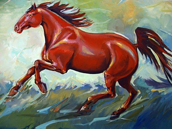 постер бегущая лошадь процессе съемок